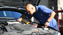 George of GP Auto Electrics conducting auto electrical diagnosis